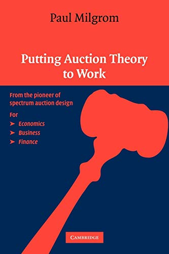 9780521536721: Putting Auction Theory to Work Paperback (Churchill Lectures in Economics)