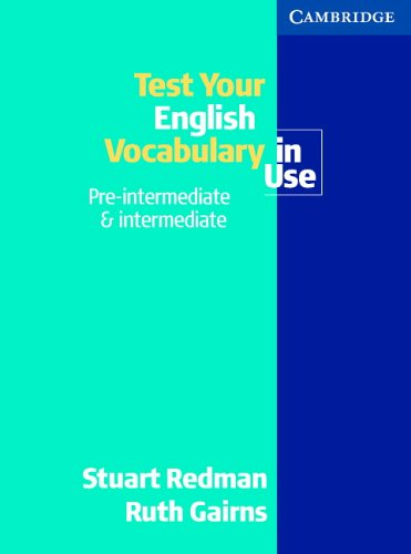 9780521536899 Test Your English Vocabulary In Use Pre Intermediate