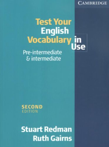 9780521536899: Test your English Vocabulary in Use: Pre-intermediate and Intermediate