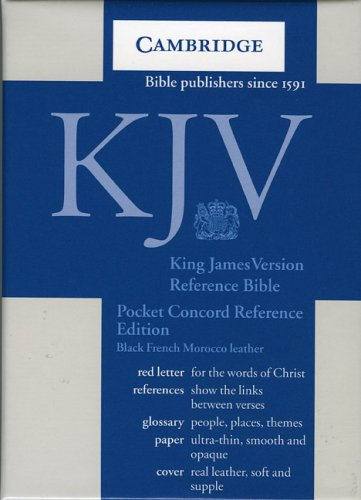 9780521536929: KJV Pocket Concord Reference Black French Morocco R103