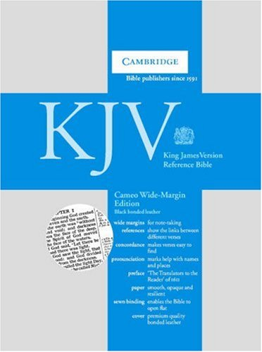 9780521536950: KJV Cameo Wide Margin Reference Bible Black French Morocco Leather KWMC253