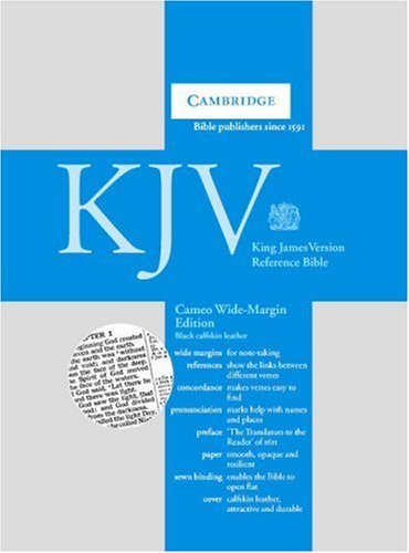 9780521536967: KJV Cameo Wide Margin Reference Bible Black Calfskin Leather KWMC257