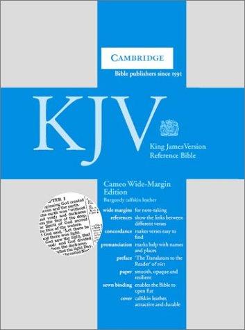 9780521536974: KJV Cameo Wide Margin Reference Bible Burgundy Calfskin Leather KWMC257