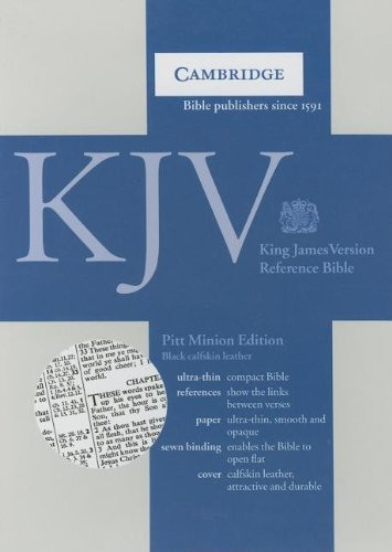 KJV Pitt Minion Reference Black Calfskin KJ187 (0521537002) by Baker Publishing Group