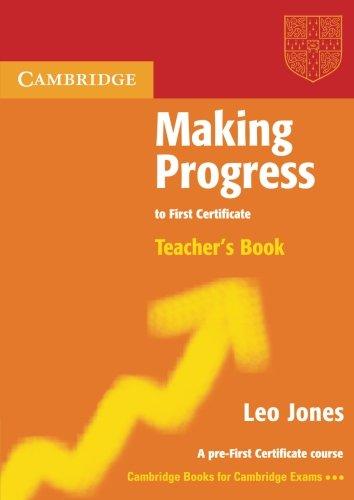 9780521537049: Making Progress to First Certificate Teacher's Book