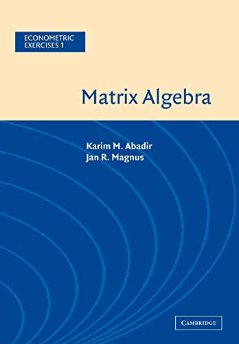 9780521537469: Matrix Algebra
