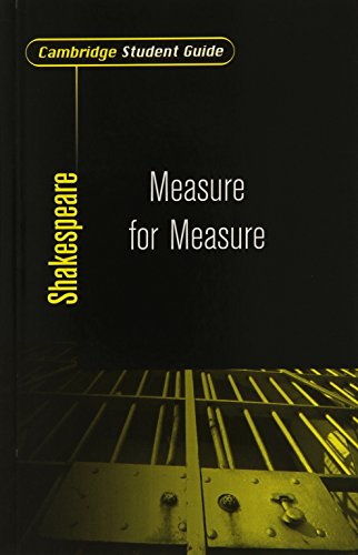 9780521538503: Cambridge Student Guide to Measure for Measure (Cambridge Student Guides)