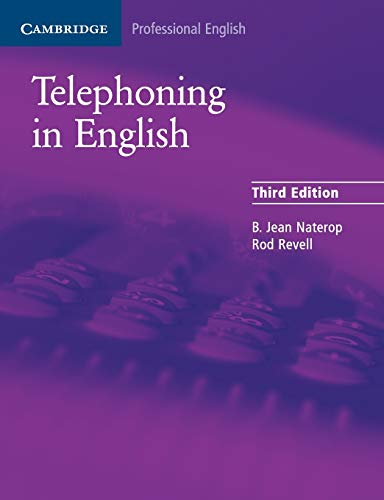 9780521539111: Telephoning in English Pupil's Book (Cambridge Professional English)