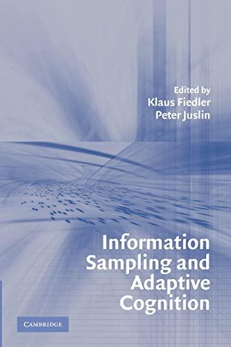 9780521539333: Information Sampling and Adaptive Cognition Paperback