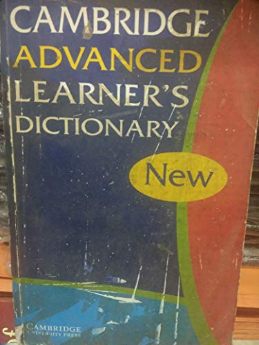 Cambridge Advanced Learner's Dictionary South Asia Edition: Cambridge University Press