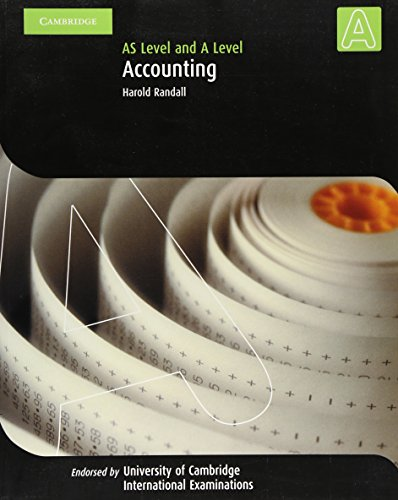 9780521539937: Accounting A Level and AS Level (Cambridge International Examinations)
