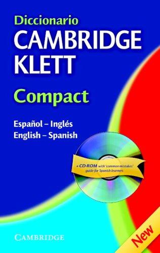 9780521540247: Diccionario Cambridge Klett Compact Español-Inglés/English-Spanish Hardback with CD-ROM