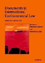 9780521540308: Documents in International Environmental Law