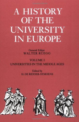 9780521541138: A History of the University in Europe: Volume 1, Universities in the Middle Ages