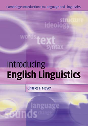 9780521541220: Introducing English Linguistics Paperback: From Text to Sound (Cambridge Introductions to Language and Linguistics)