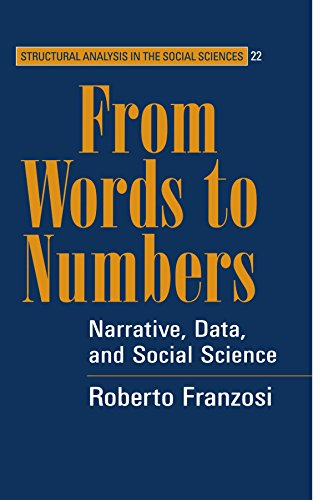 9780521541459: From Words to Numbers: Narrative, Data, and Social Science