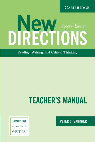 9780521541732: New Directions Teacher's Manual Second edition: An Integrated Approach to Reading, Writing, and Critical Thinking (Cambridge Academic Writing Collection)