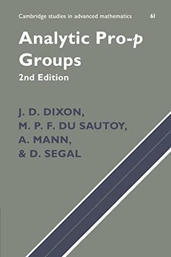 9780521542180: Analytic Pro-P Groups (Cambridge Studies in Advanced Mathematics)