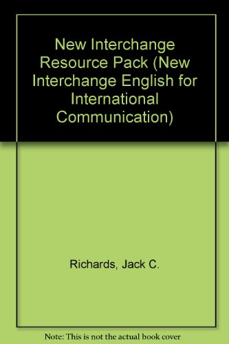 9780521542425: New Interchange Resource Pack (New Interchange English for International Communication)