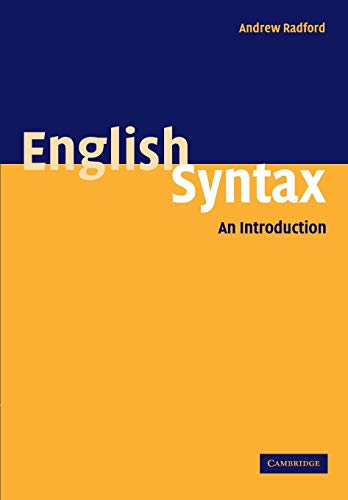 9780521542753: English Syntax: An Introduction