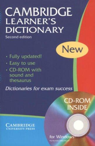 9780521543811: Cambridge learner's dictionary. Intermediate to upper intermediate. Con CD-ROM