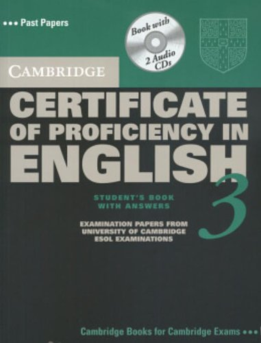 9780521543910: Cambridge Certificate of Proficiency in English 3 Self Study Pack with Answers: Examination Papers from University of Cambridge ESOL Examinations