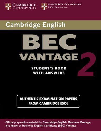 9780521544542: Cambridge BEC Vantage 2 Student's Book with Answers: Examination Papers from University of Cambridge ESOL Examinations (BEC Practice Tests)