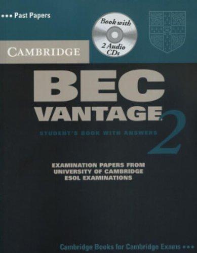 9780521544559: Cambridge BEC Vantage 2 Self Study Pack: Examination papers from University of Cambridge ESOL Examinations