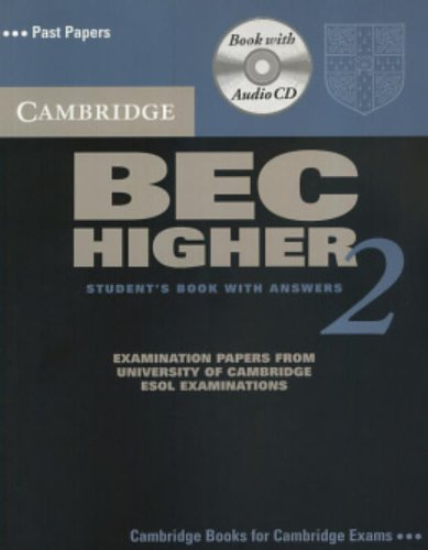 9780521544597: Cambridge BEC Higher 2 Self Study Pack: Examination papers from University of Cambridge ESOL Examinations (BEC Practice Tests)