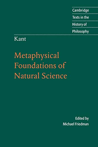 9780521544757: Kant: Metaphysical Foundations of Natural Science (Cambridge Texts in the History of Philosophy)
