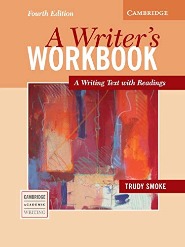 9780521544894: A Writer's Workbook Fourth edition: A Writing Text with Readings (Cambridge Academic Writing Collection)