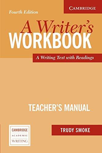 9780521544900: A Writer's Workbook Teacher's Manual: An Interactive Writing Text