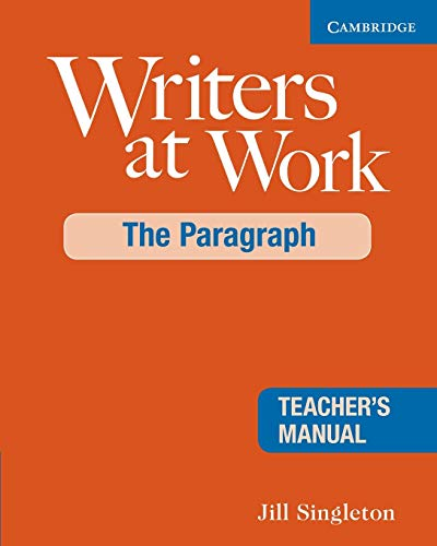 9780521545235: Writers at Work: The Paragraph Teacher's Manual