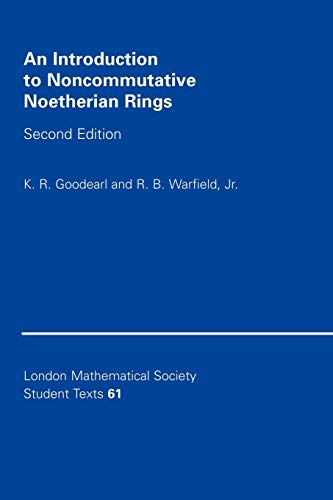 9780521545372: An Introduction to Noncommutative Noetherian Rings (London Mathematical Society Student Texts)