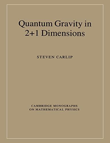9780521545884: Quantum Gravity in 2+1 Dimensions (Cambridge Monographs on Mathematical Physics)