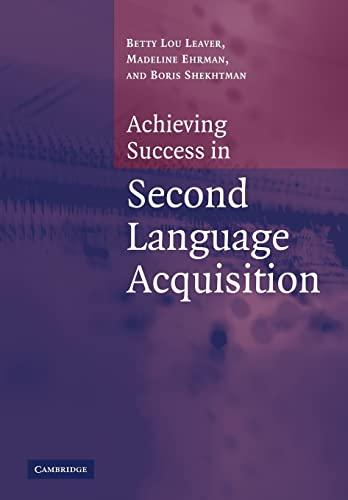 9780521546638: Achiev Success Second Lang Acquisit