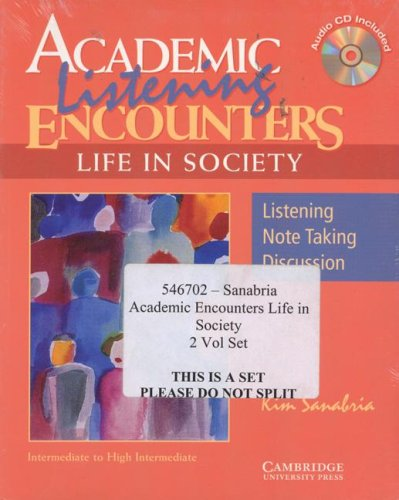 9780521546706: Academic Encounters Life in Society 2 Book Set (Reading Student's Book and Listening Student's Book with Audio CD)