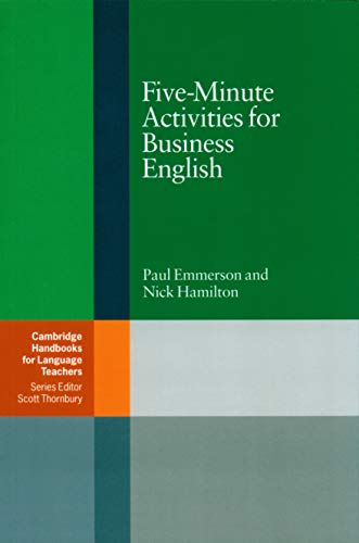 9780521547413: Five-Minute Activities for Business English Paperback (Cambridge Handbooks for Language Teachers)