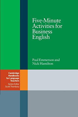9780521547413: Five-Minute Activities for Business English (Cambridge Handbooks for Language Teachers)