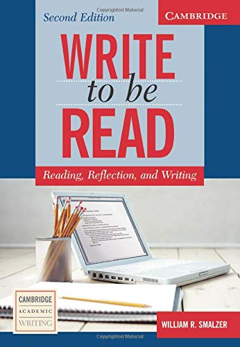 9780521547468: Write to be Read 2nd Student's Book: Reading, Reflection, and Writing (Cambridge Academic Writing Collection)
