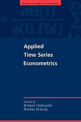 9780521547871: Applied Time Series Econometrics (Themes in Modern Econometrics)