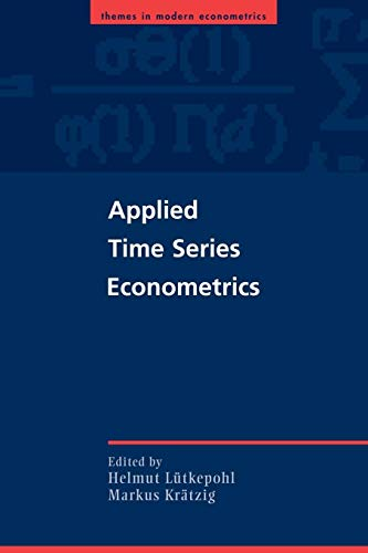 9780521547871: Applied Time Series Econometrics (Themes in Modern Econometrics)