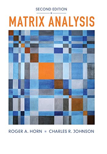 9780521548236: Matrix Analysis 2nd Edition Paperback