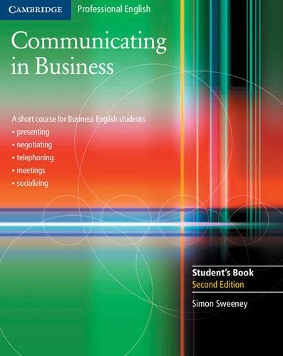 9780521549127: Communicating in Business: A Short Course for Business English Students, 2nd Edition (Cambridge Professional English)