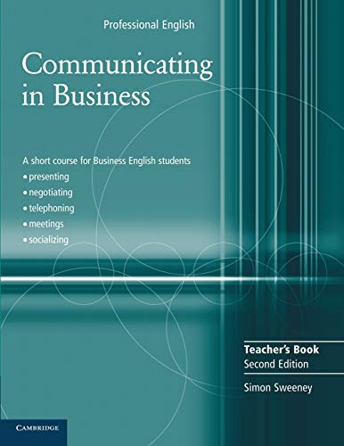 9780521549134: Communicating in Business Teacher's Book (Cambridge Professional English)