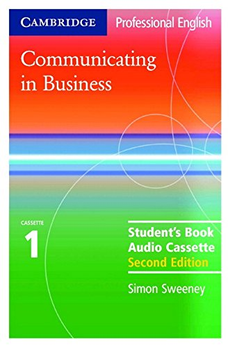 9780521549141: Communicating in Business: Student Audio Cassette Set (Cambridge Professional English)