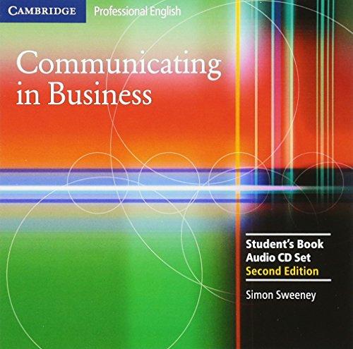 9780521549158: Communicating in Business Audio CD Set (2 CDs) (Cambridge Professional English)