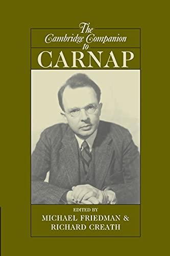 9780521549455: The Cambridge Companion to Carnap (Cambridge Companions to Philosophy)
