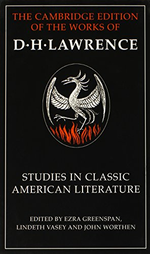 9780521550161: Studies in Classic American Literature (The Cambridge Edition of the Works of D. H. Lawrence)