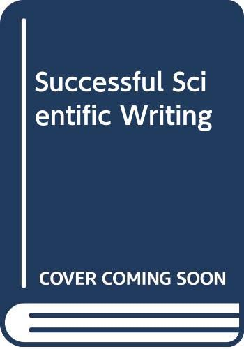 9780521550888: Successful Scientific Writing: A Step-by-step Guide for the Biological and Medical Sciences